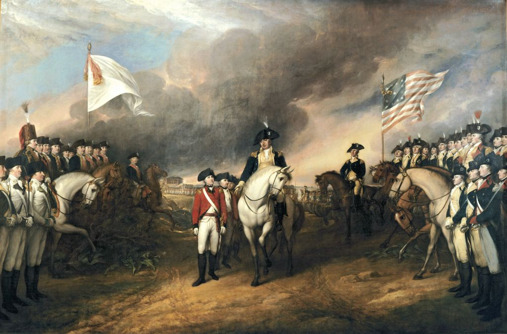 Pictures of historical documents are boring, so here are a bunch of redcoats surrendering at Yorktown